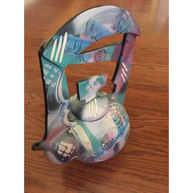 Tom Hubert Handmade Porcelain Teapot - Master Ceramist Professor Fine Arts For Sale - Image 4 of 11