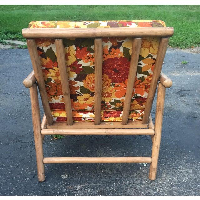 John Wisner for Ficks Reed Rattan Chair For Sale - Image 5 of 5