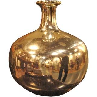 Antique Silvered Glass Vase For Sale
