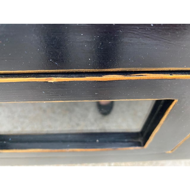 Black Ebonized Three-Drawer Console Table For Sale - Image 8 of 13