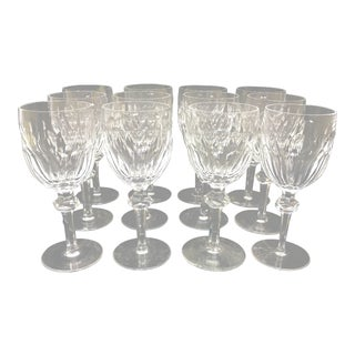 Waterford Crystal Clara Pattern Water Glasses - Set of 12 For Sale
