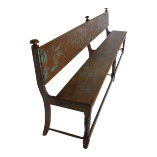19th Century Bench with Traces of Paint For Sale