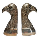 Image of Vintage Brass Eagle Bookends - a Pair For Sale