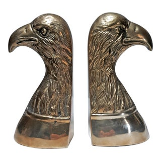 Vintage Brass Eagle Bookends - a Pair For Sale
