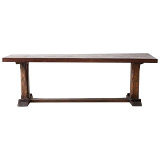 Rustic Italian Baroque Refectory Trestle Table For Sale