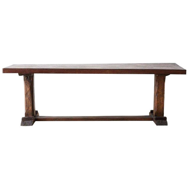 Rustic Italian Baroque Refectory Trestle Table For Sale