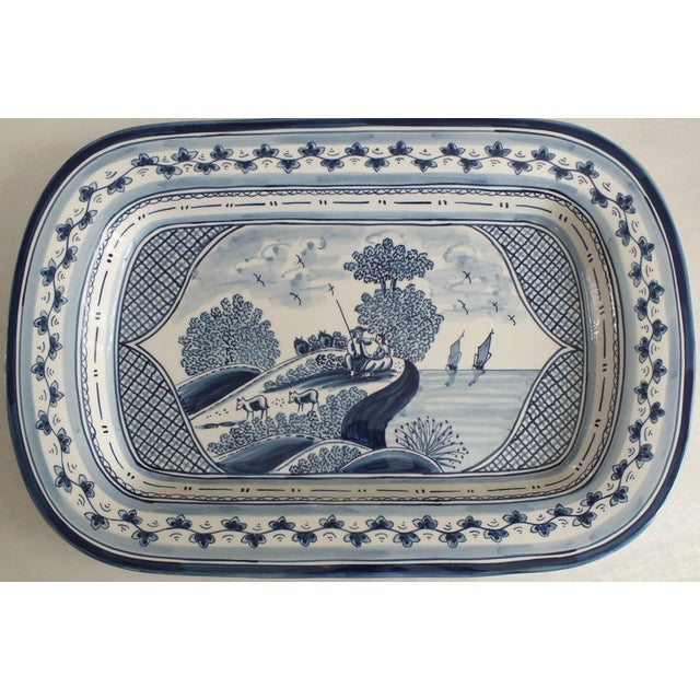 Nazari Blue & White Hand Painted Portuguese Platter - Image 2 of 9