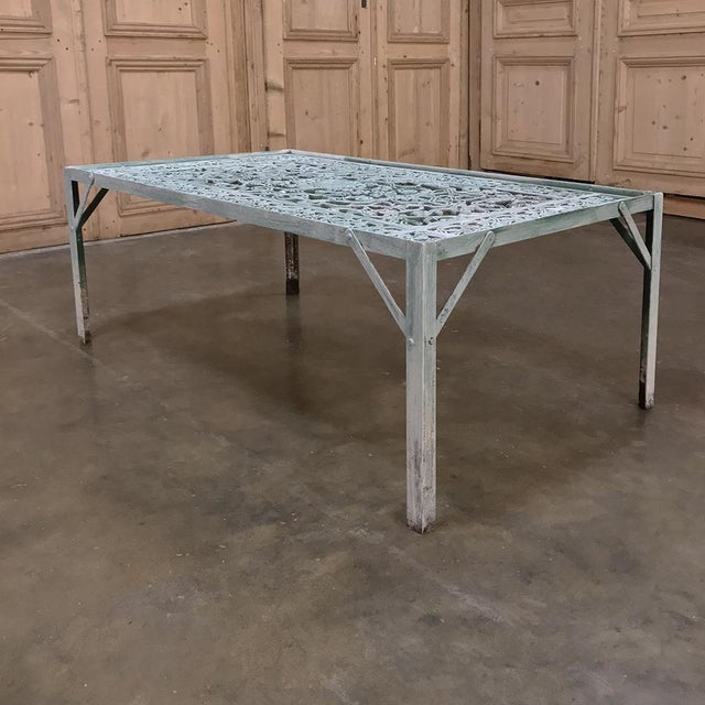 19th Century Iron Panel Coffee Table For Sale - Image 10 of 12
