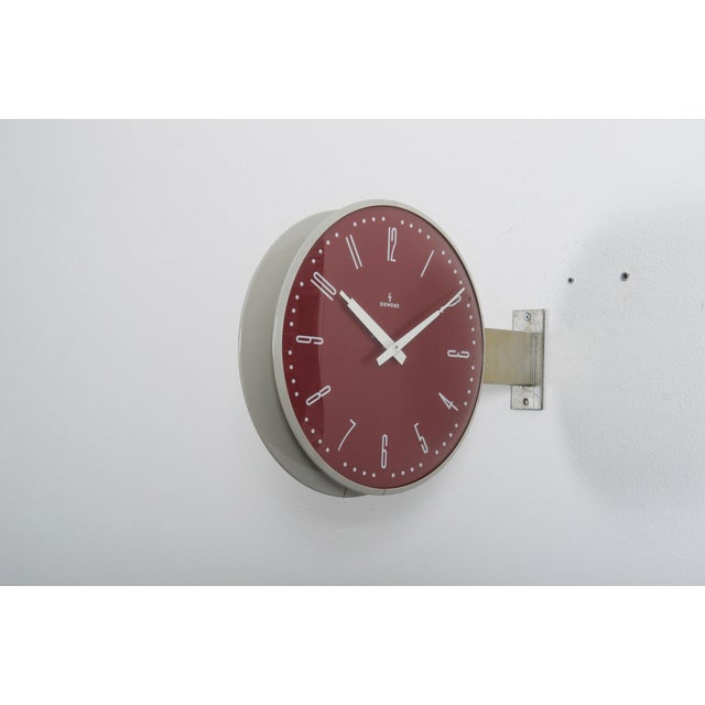 Siemens Halske Double Faced Train Station, Wokshop, Factory Clock For Sale - Image 9 of 10