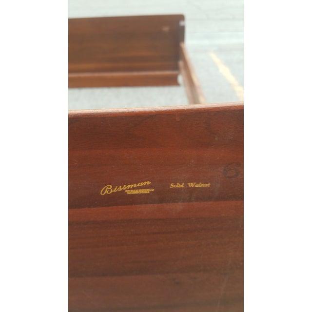 Walnut Vintage Mid-Century Carl Bissman Walnut Full Size Bedframe For Sale - Image 7 of 8
