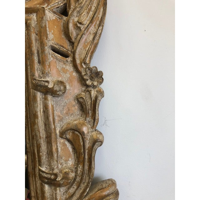 Late 20th Century Overscaled Hand Carved Wood Neoclassical Mirror For Sale - Image 11 of 13