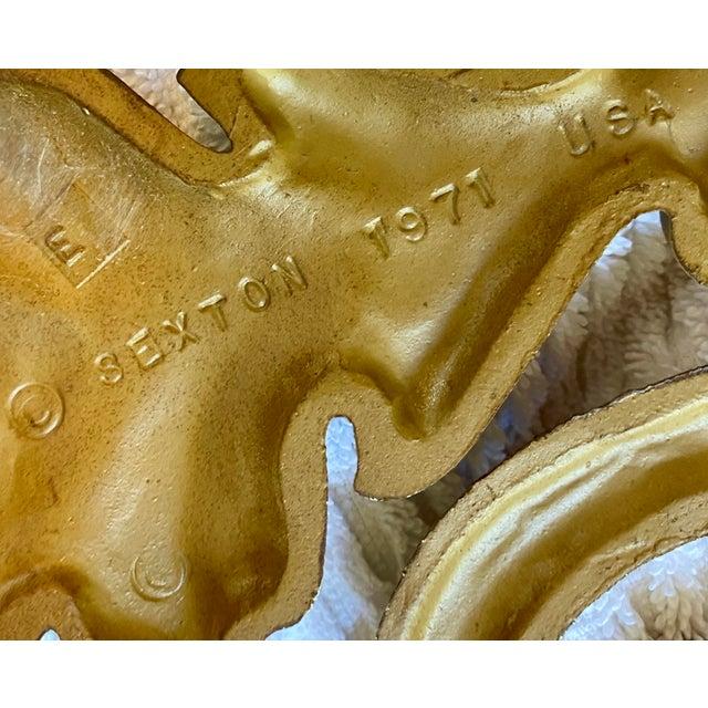 Gold 1970s Goldtone Hanging Candelabra For Sale - Image 8 of 9