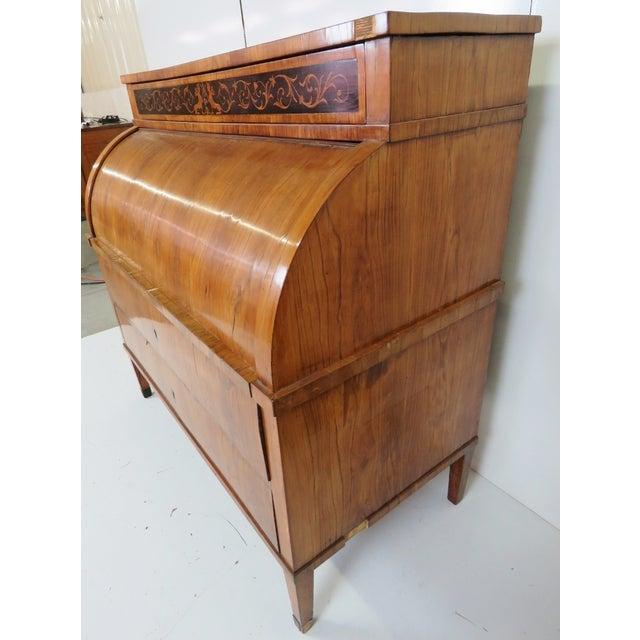 19th C. Biedermeier Cylinder Desk - Image 6 of 10