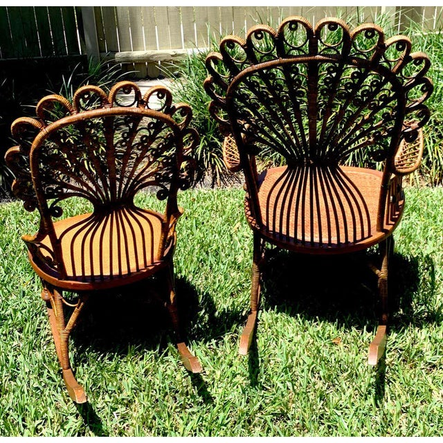 High Victorian Wicker Parlour Set - Set of 6 For Sale - Image 11 of 13