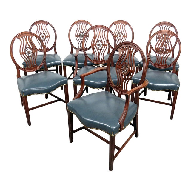 Set of 8 Georgian Style Dining Room Chairs For Sale
