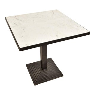 French Modern Marble Bistro Dining Table For Sale
