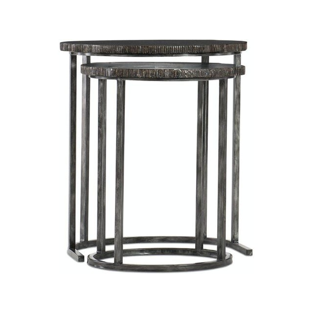 2020s Kenneth Ludwig Organic Painted Nesting Tables - Set of 2 For Sale - Image 5 of 5