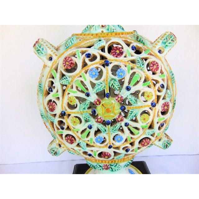 Italian Pottery Vase Lamp - Image 4 of 4