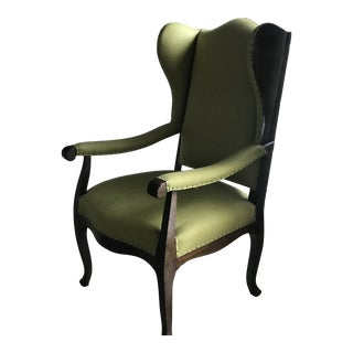 Antique French Wingback Chair For Sale