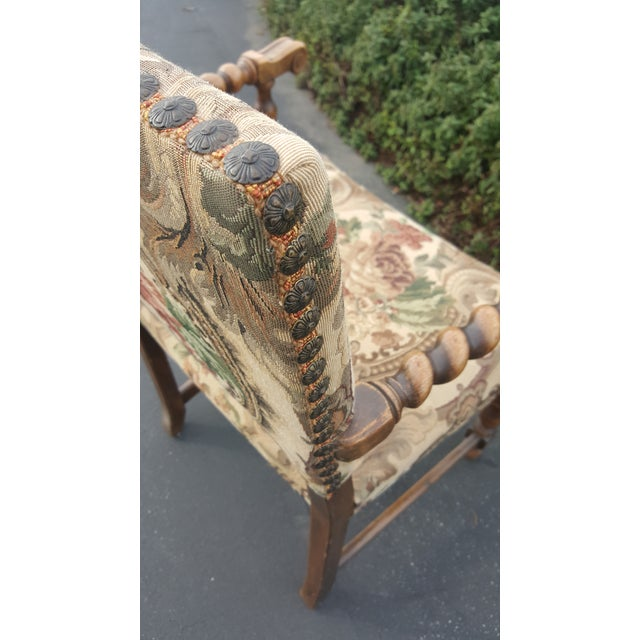 1940s 1940s Vintage Upholstered Dining Chairs- Set of 8 For Sale - Image 5 of 13
