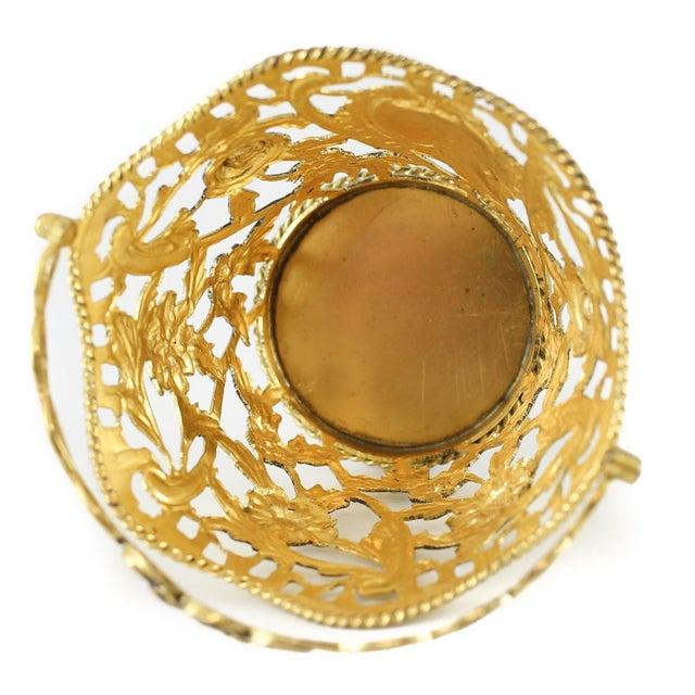 1769 Michael Plummer London George III Miniature Sterling Silver Pierced Basket For Sale - Image 5 of 6