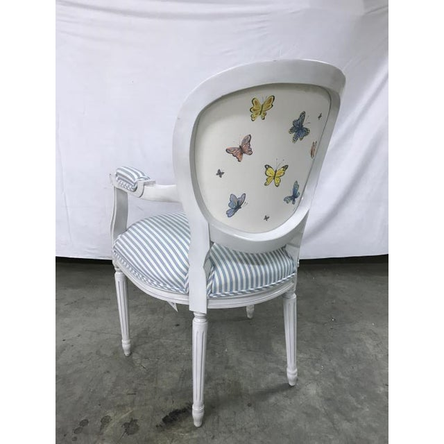 Transitional Highland House Anne Arm Chair For Sale - Image 3 of 4