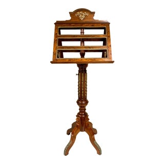 19th-C. French Gilt Bronze and Mahogany Duet Music Stand For Sale