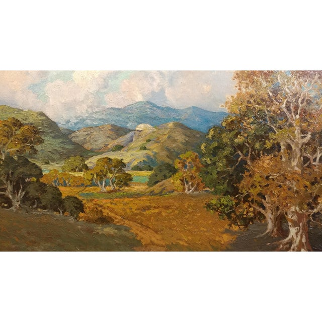 Howard Arden Edwards- Eagle Rock Canyon- California Plein Air Oil Painting c.1925 For Sale - Image 4 of 10