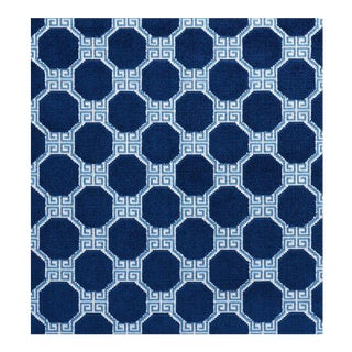 Schumacher Greek Key Velvet Fabric