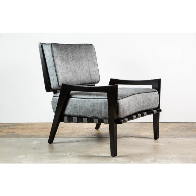 Paul Marra Low Lounge Chair in Black Lacquer - Image 2 of 9