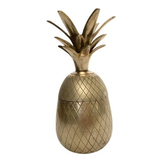 Vintage Brass Pineapple Box For Sale