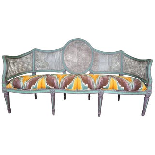 18th Century Vintage Caned Sofa For Sale