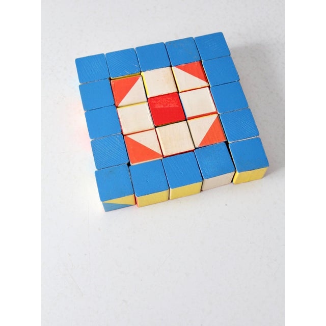 Playskool Color Cubes Toy Blocks Circa 1970 For Sale - Image 9 of 12
