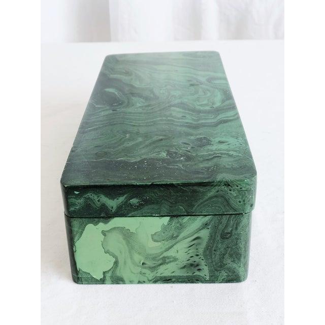 Faux Malachite Trinket Box For Sale - Image 4 of 10