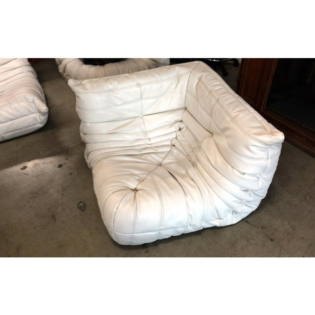 This incredible five (5) piece Togo sectional living room set, was designed by Michel Ducaroy in 1973 for Ligne Roset,...