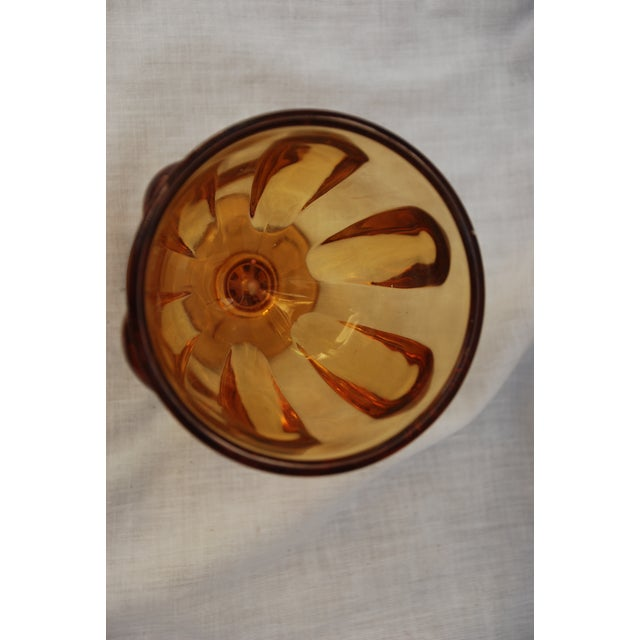 Vintage Amber Depression Glass Lidded Jar For Sale In New Orleans - Image 6 of 11