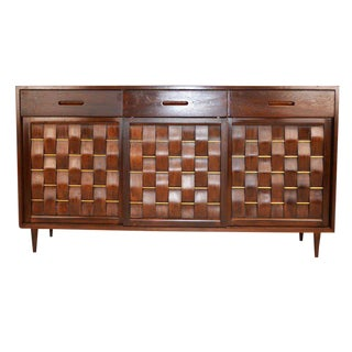 Edward Wormely for Dunbar Woven Front Credenza For Sale