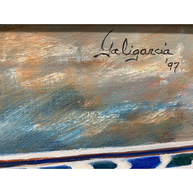 """1990s Carmen Galigarcia """"Cuban Kitchen"""" Original Oil on Canvas Painting For Sale - Image 5 of 10"""