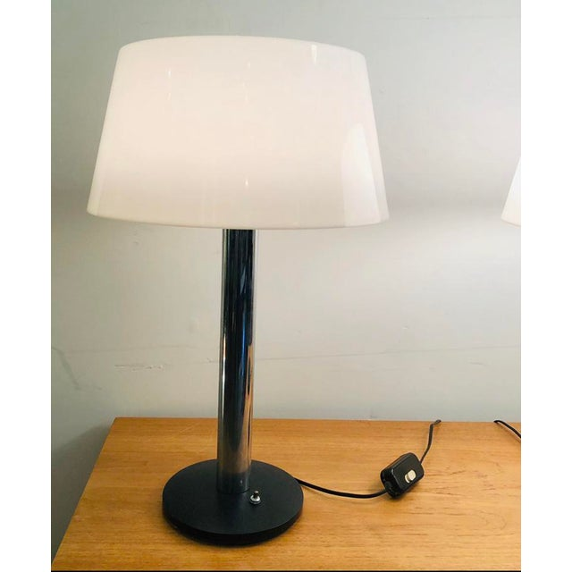 Vintage 1960s Lightolier Lamp by Gerald Thurston - a Pair For Sale In Miami - Image 6 of 9