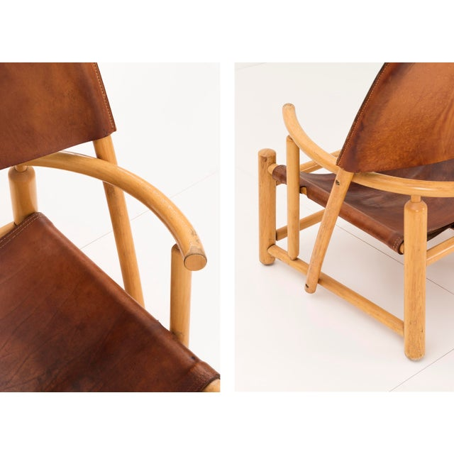 """Pair of Werther Toffoloni and Piero Palange """"Hoop"""" Lounge Chairs For Sale - Image 9 of 10"""