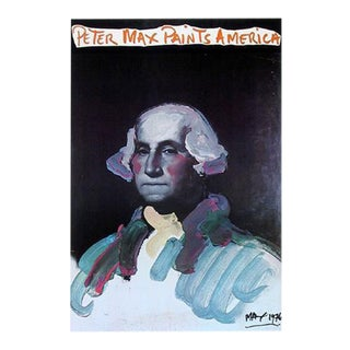 1976 Peter Max Paints America Poster For Sale