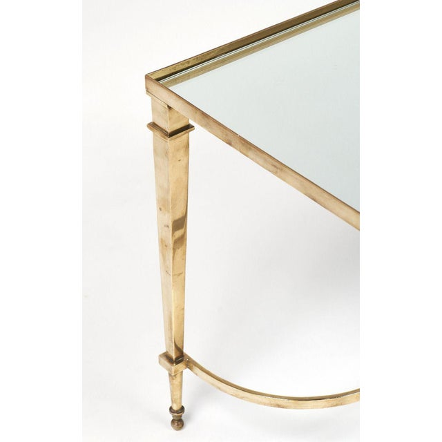 Art Deco Brass and Mirror Coffee Table For Sale - Image 9 of 11