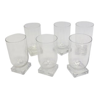 Art Deco Moderne Water Glasses Tumblers - Set of 6 For Sale