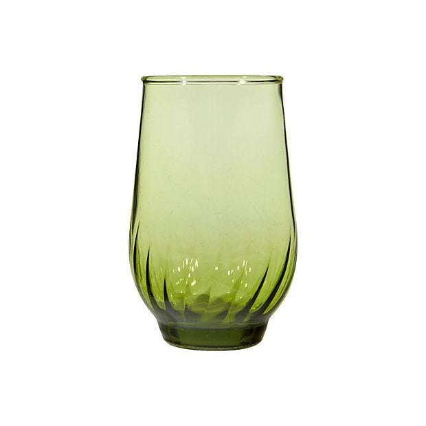 1960s Green Juice Glasses - Set of 6 - Image 3 of 3