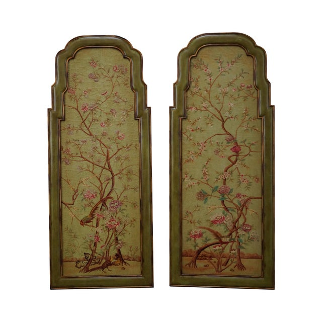 Elizabeth Marshall Queen Anne Style Wall Panels - A Pair - Image 1 of 10