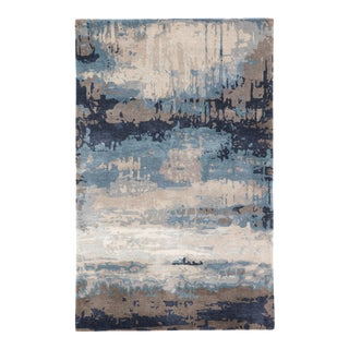 Jaipur Living Benna Handmade Abstract Blue Gray Area Rug 6'X9' For Sale