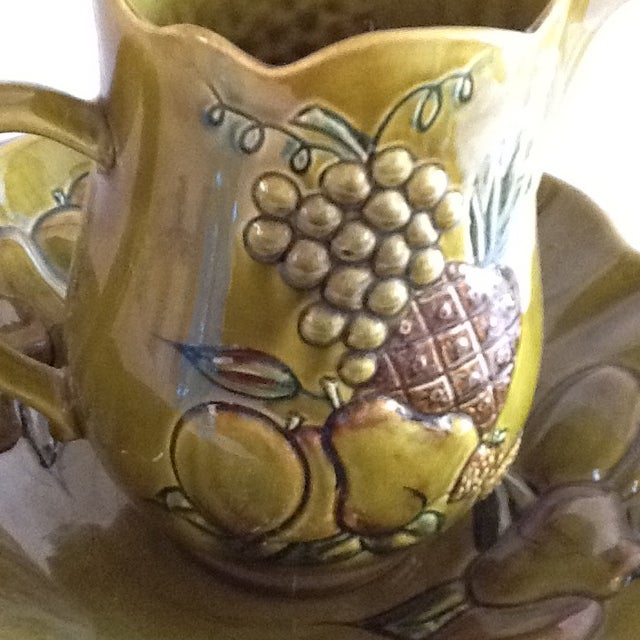 Mid-Century California Pottery Bowl & Pitcher - A Pair - Image 6 of 11