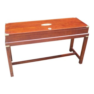Campaign Box on Stand, Mahogany With Brass Fittings For Sale