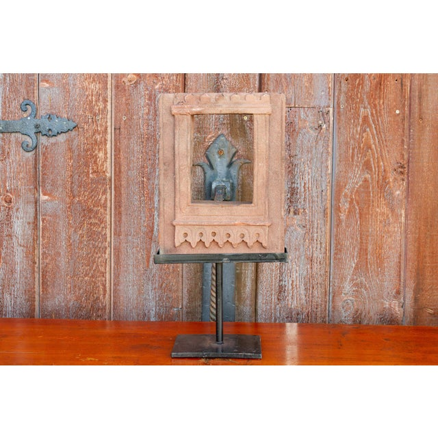 Tan 19th Century Architectural Niche on Stand For Sale - Image 8 of 9
