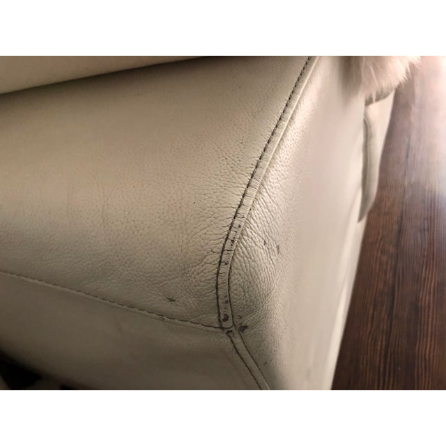 Leather 1950s Vintage Roche Bobois White Leather Sofa For Sale - Image 7 of 7